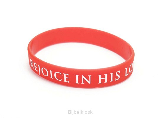 Armband rejoice in his love rood
